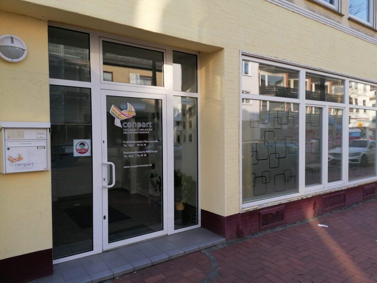 Das Ladengeschäft von Conpart im Erdgeschoss